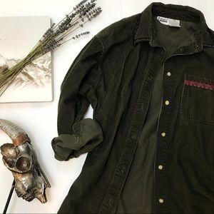 Vintage Oversized Corduroy Button Up Indie Grunge